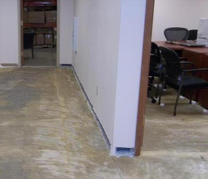 Daytona Beach Flooded Office Floor After