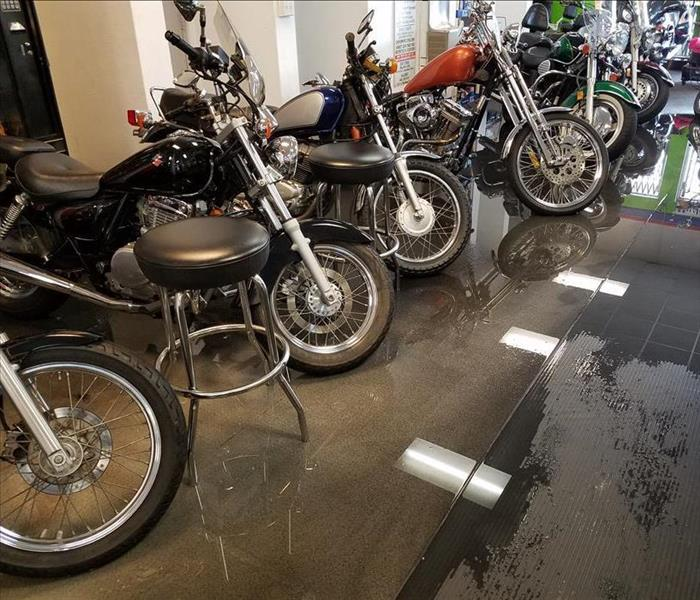 Commercial Local Motorcycle Shop Flood