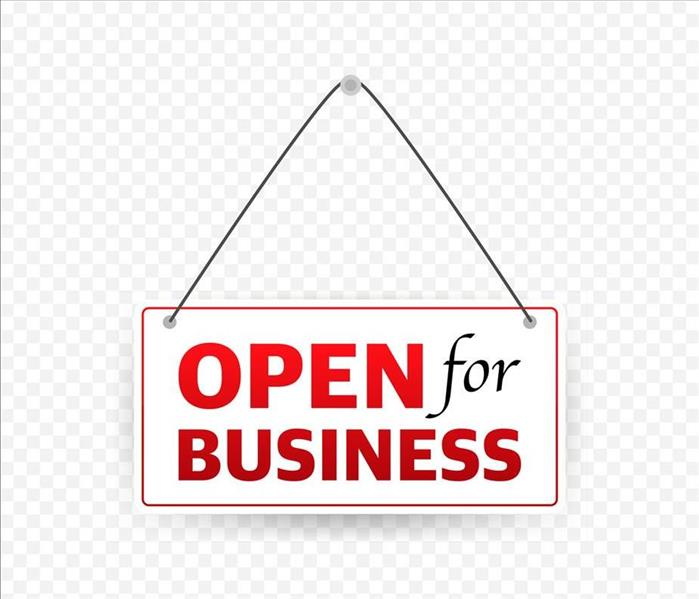 open for business sign for front door